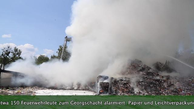 Feuer am Georgschacht in Stadthagen